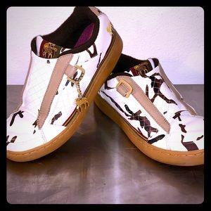L.A.M.B. RARE Army Print Sneakers by Gwen Stefani
